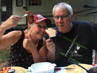 Dizzy and Karen Love Smoked Pork Loin!
