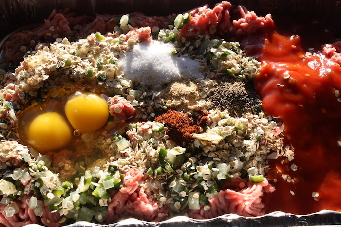 Smoked Meatloaf with Poblano Peppers Recipe