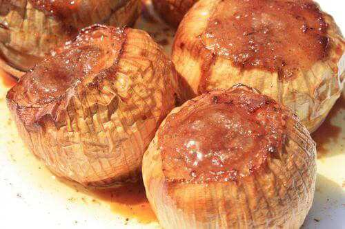 Beautifully Grilled Whole Onions, Nicely Browned