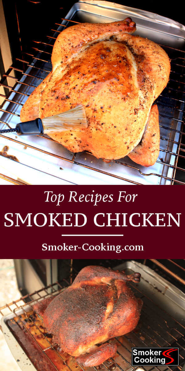 This collection of smoked chicken recipes includes ideas for smoking chicken breasts, thighs, legs and whole chickens. Try the bacon wrapped thighs!