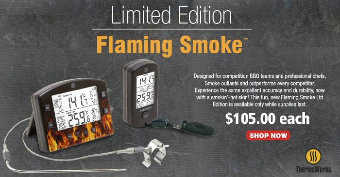 ThermoWorks Flaming Smoke Limited Edition Smoker Thermometer