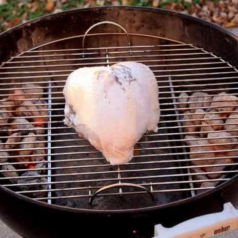 Grill Smoking a Turkey Breast In My Weber Kettle Grill